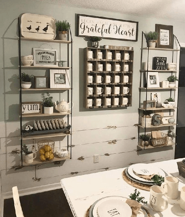 23 Farmhouse Shelving And Wall Decor Ideas For Your House