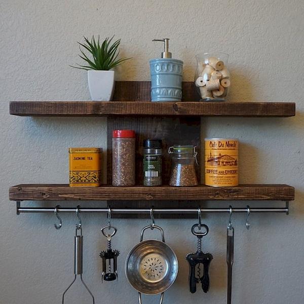31 Farmhouse Kitchen Rack Organization Ideas