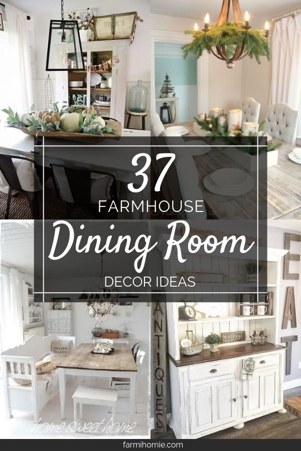 37 Farmhouse Dining Room Decor Ideas For Your Home