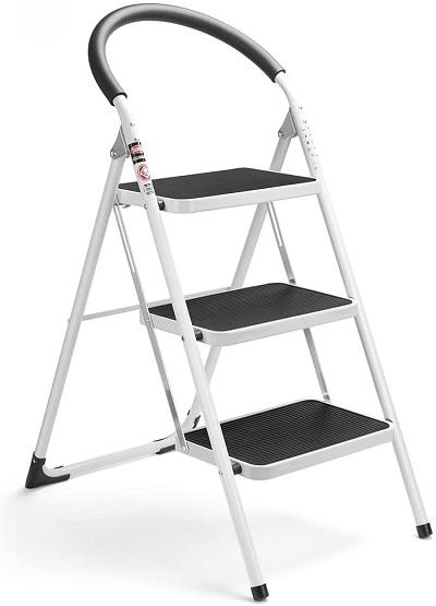 Delxo Folding 3 Step Ladder