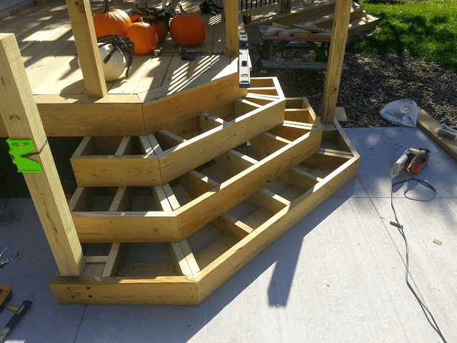 Cascading Deck Stairs