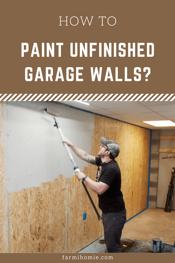 How to Paint Unfinished Garage Walls