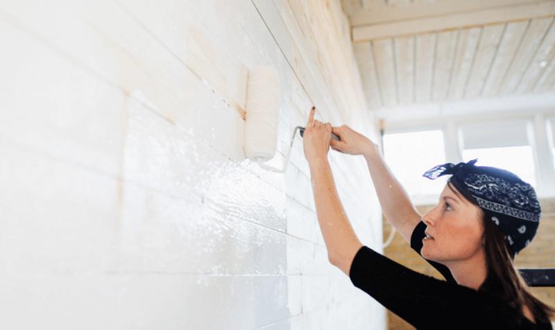 Paint Unfinished Garage Walls