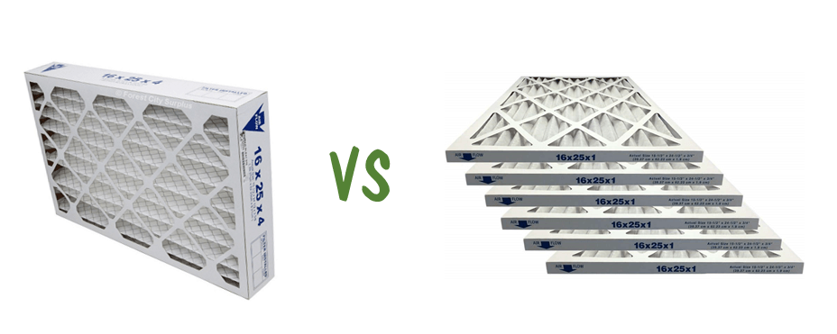 4-inch vs 1-inch Furnace Filters