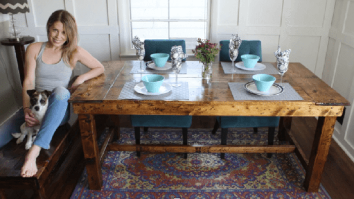 Rustic Farmhouse Kitchen Table for only 50 Dollars