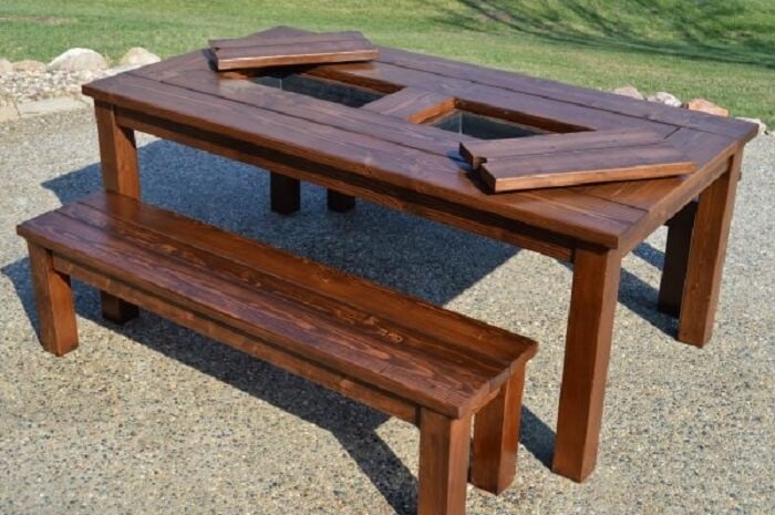 DIY Patio Tables With Ice Chest