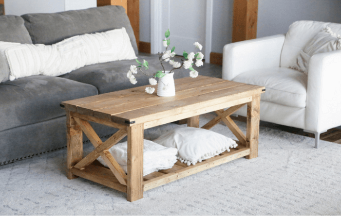 Farmhouse Coffee Table Plan for Under $40