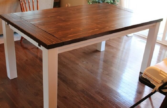 How To Build A Farmhouse Table With Leaves