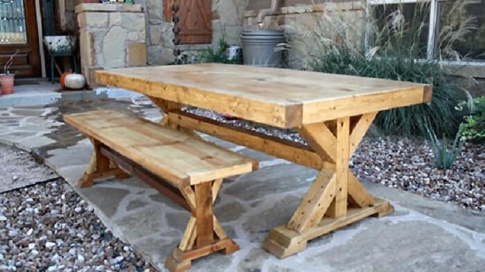 Farmhouse table frame