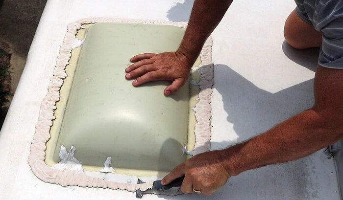 how to remove dicor lap sealant